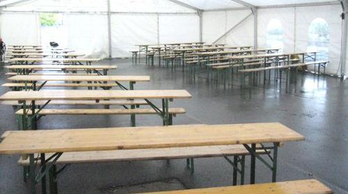 Firmenfeier, Hochzeit, Geburtstag, Jubiläum - Zelt/ Location mit Ausstattung für Ihr Event 101 - 200 Personen rustikal