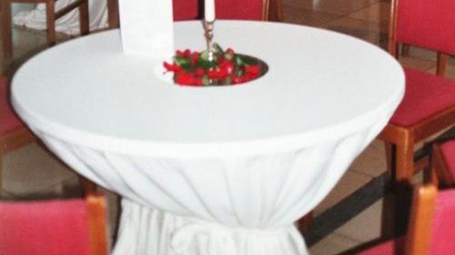 Hussen in A-Qualität für Tisch rund 100 cm