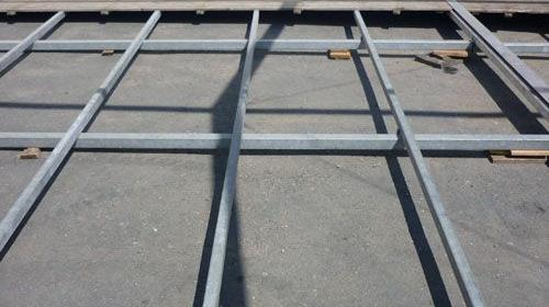 Systemfußboden mit Stahlunterbau ab 75m² Zeltboden