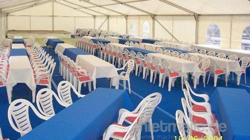 Firmenfeier, Hochzeit, Geburtstag, Jubiläum - Zelt/ Location mit Ausstattung für Ihr Event 50 - 100 Personen gehoben