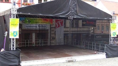Bühne mit Dach Traversensystem 8 x 12m - Hubdach