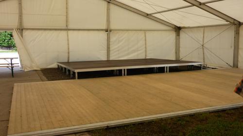 Holzboden/ Tanzfläche - bis 75m² als 3,0m Raster
