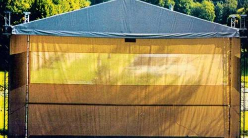 Überdachung Traversengerüst, Traversendach 8 x 12m