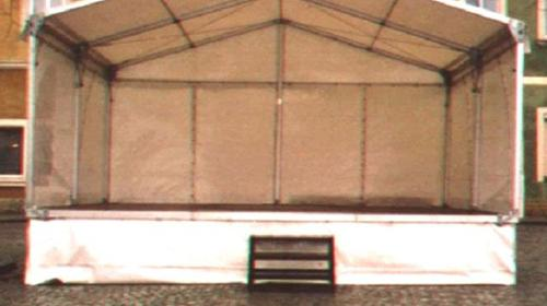 Bühne mit Zeltüberdachung 6 x 6 m