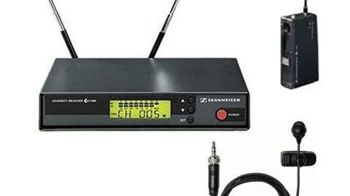 Semiprofessionelles Komplettset Funkmikro UHF EW 100 mit Ansteckmikrofon / Krawattenmikrofon / Lavaliermikrofon