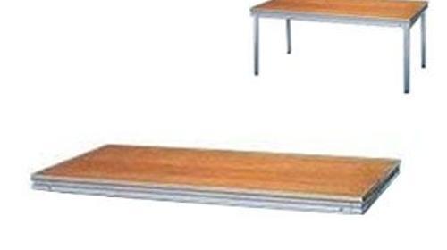Podestplatte, 2 x 1m Indoor
