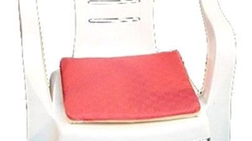 Sitzauflage - rot / beige