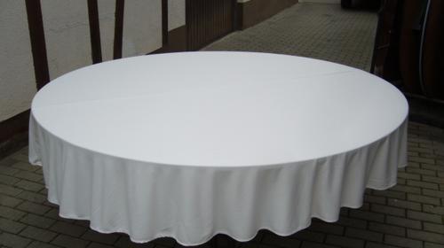 Tischdecke als Husse rund 240 cm, mit Überhang