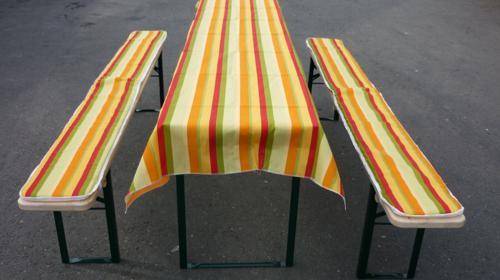 Bankauflage /Tischdecke Stoff für Festzeltgarnitur