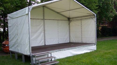 Bühne mit Dach 6 x 3m - Zeltüberdachung