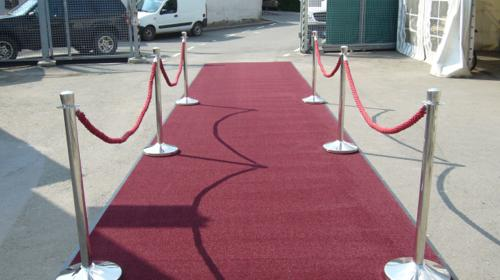 Teppichläufer rot, red carpet, 10m lang, 2m breit