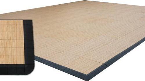Tanzboden/Tanzfläche aus Kunststoff (Holzoptik)
