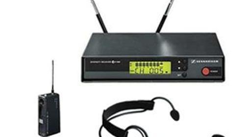 Semiprofessionelles Komplettset Funkmikro UHF EW 100 mit Headset