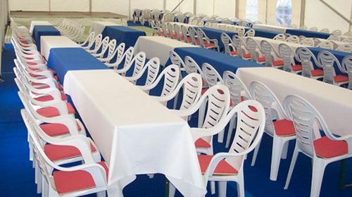 Firmenfeier, Hochzeit, Geburtstag, Jubiläum - Zelt/ Location mit Ausstattung für Ihr Event 101 - 200 Personen gehoben