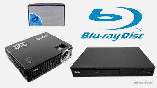 Blu-Ray und DVD Präsentationsset Notebook Beamer mieten in Berlin Hamburg Köln München Deutschlandweit