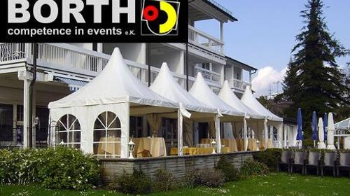 Pagode / Zelt mit elegantem Spitzdach und 6x6 m