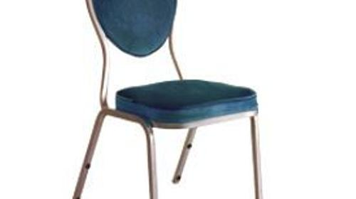 Bankettstuhl gepolstert blau