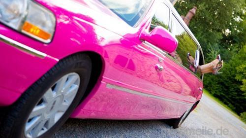 Pinke Stretchlimousine