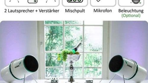EVENT & HOCHZEIT PAKET - Musikanlage mit Mischpult & Mikrofon inkl. Lieferservice
