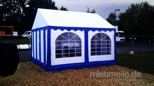 Pavillon 3 x 3 x 2,5 m / Stoff / Blau