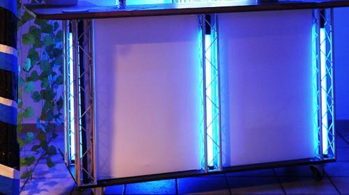 Cocktailbar mit LED Beleuchtung/Cocktailtresen/mobile Cocktailbar/Bartresen/Sektbar/Ausschanktresen