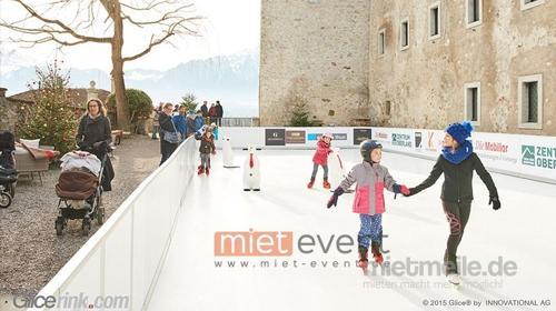 Mobile Eislaufbahn / Schlittschuh laufen mieten