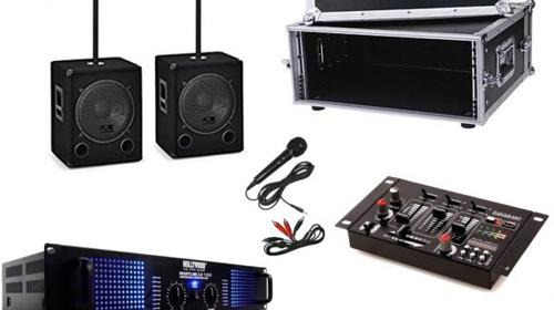 "Musik-Sound PA Set - Stereo mit Subwoofer im 19"" Rack"