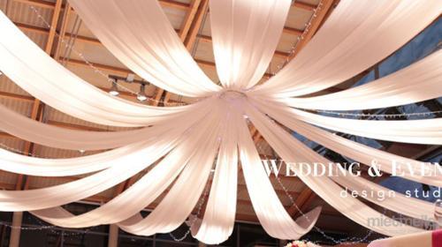 Baldachin - Deckendekoration mit LED-Beleuchtung - Dekohimmel Hochzeitsdekoration Verleih Vermietung Stuttgart München Ulm Frankfurt am Main Straßburg Basel Baden-Baden Konstanz