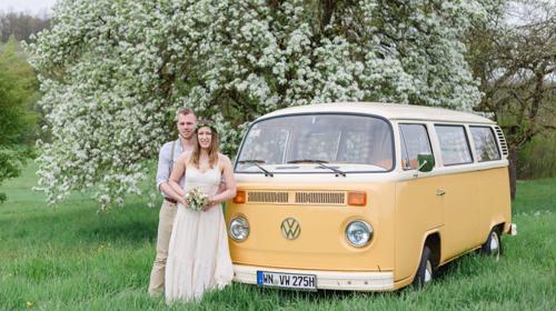 VW T2 Bulli Oldtimer Hochzeitsauto mieten Chauffeur