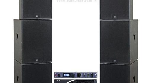 Seeburg Pa Anlage 4x B1801, 2x TSM15 Tonanlage, Beschallungsanlage, Musikanlage, Lautsprecher, Partyanlage, Line Array