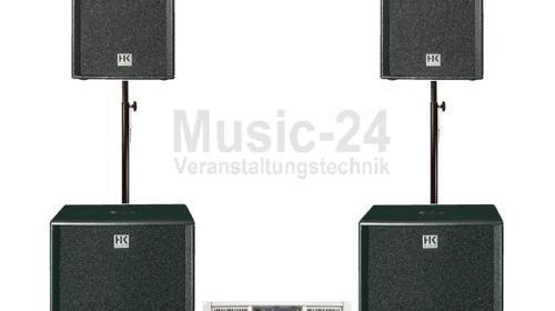 HK-Audio Pro Pa Anlage 2x Pro18, 2x Pro12 Tonanlage, Beschallungsanlage, Musikanlage, Partyanlage, DJ-Anlage, Lautsprecher