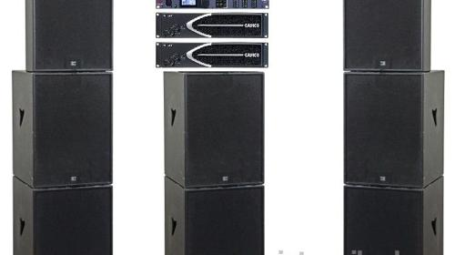 Seeburg Pa Anlage 6x B1801, 2x TSM15 Tonanlage, Beschallungsanlage, Musikanlage, Lautsprecher, Partyanlage, Line Array