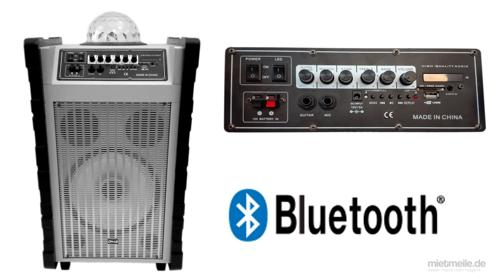 Mobile Musik Sound Anlage PA tragbare Lautsprecher Box mit Akku DJ Musikanlage USB SD MP3 Wireless Bluetooth LED Karaoke für iPad / iPod oder Android Smartphone Tablet CD