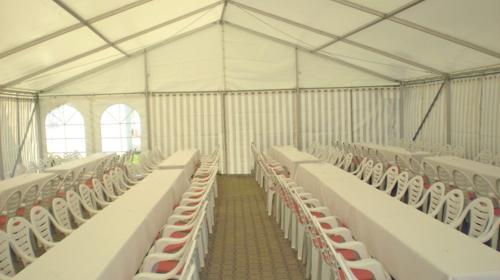 Firmenfeier, Hochzeit, Geburtstag, Jubiläum - mobile Location + Ausstattung für Ihr Event 101 - 200 Personen gehoben