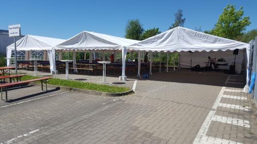 Festzelt 18m x 12m Zelt Partyzelt Pagoden