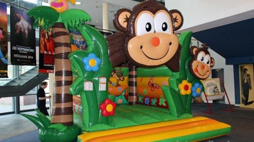 Hüpfburg Charly / Dschungel / Tarzan / Affe / Indoor Kinder Springburg