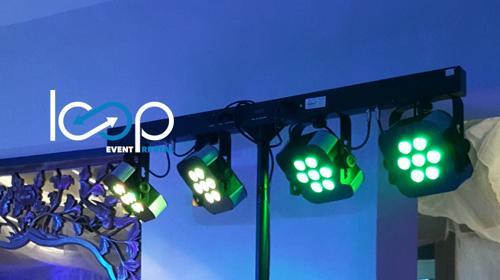 LED Stage-light-SET // Tanzflächenbeleuchtung // Spot // Effekt // Event
