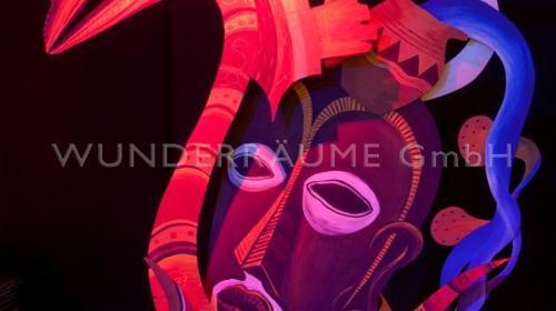 Afrika-Kulisse, rot - -WUNDERRÄUME GmbH vermietet: Dekoration/Kulisse für Event, Messe, Veranstaltung, Incentive, Mitarbeiterfest, Firmenjubiläum