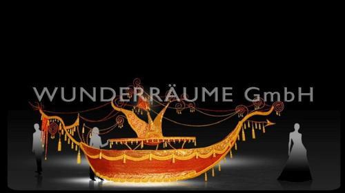 Buffet-Schiff, rot-gold - WUNDERRÄUME GmbH vermietet: Dekoration/Kulisse für Event, Messe, Veranstaltung, Incentive, Mitarbeiterfest, Firmenjubiläum