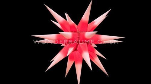 Outdoor-Stern, rot-weiß - WUNDERRÄUME GmbH vermietet: Dekoration/Kulisse für Event, Messe, Veranstaltung, Incentive, Mitarbeiterfest, Firmenjubiläum