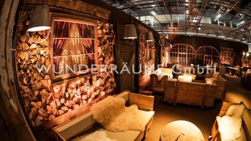 Kaminholzwand - WUNDERRÄUME GmbH vermietet: Dekoration/Kulisse für Event, Messe, Veranstaltung, Incentive, Mitarbeiterfest, Firmenjubiläum