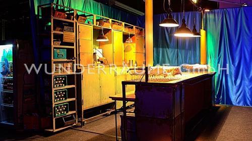Bar Industrial Werkstatt - WUNDERRÄUME GmbH vermietet: Dekoration/Kulisse für Event, Messe, Veranstaltung, Incentive, Mitarbeiterfest, Firmenjubiläum