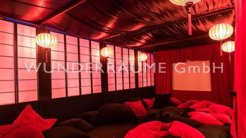 Asienpavillon schwarz - WUNDERRÄUME GmbH vermietet: Dekoration/Kulisse für Event, Messe, Veranstaltung, Incentive, Mitarbeiterfest, Firmenjubiläum