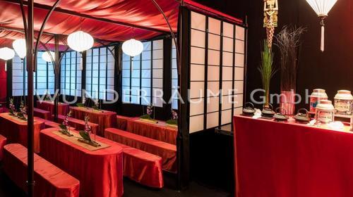 Asien Lounge 2 - WUNDERRÄUME GmbH vermietet: Dekoration/Kulisse für Event, Messe, Veranstaltung, Incentive, Mitarbeiterfest, Firmenjubiläum
