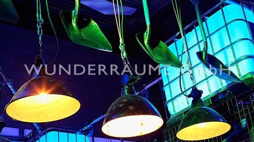 Baulampe - Industrielampe - WUNDERRÄUME GmbH vermietet: Dekoration/Kulisse für Event, Messe, Veranstaltung, Incentive, Mitarbeiterfest, Firmenjubiläum