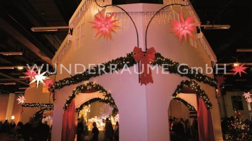 beleuchtetete Tannengirlanden - WUNDERRÄUME GmbH vermietet: Dekoration/Kulisse für Event, Messe, Veranstaltung, Incentive, Mitarbeiterfest, Firmenjubiläum
