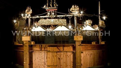 Maritime Hafen Bar;  Schiffsbar, rustikal WUNDERRÄUME GmbH vermietet: Dekoration / Kulisse für Event, Messe, Veranstaltung, Incentive, Mitarbeiterfest, Firmenjubiläum