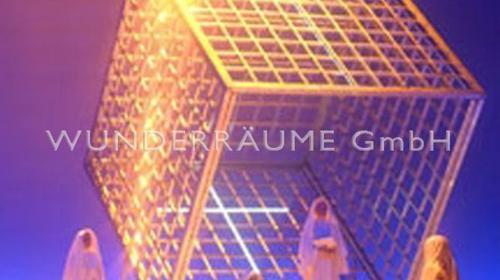 Metallwürfel - WUNDERRÄUME GmbH vermietet: Dekoration/Kulisse für Event, Messe, Veranstaltung, Incentive, Mitarbeiterfest, Firmenjubiläum