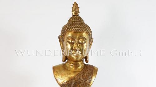 Buddha-Büste, gold - WUNDERRÄUME GmbH vermietet: Dekoration/Kulisse für Event, Messe, Veranstaltung, Incentive, Mitarbeiterfest, Firmenjubiläum