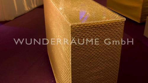 Stehtisch Glamour in silber und gold - WUNDERRÄUME GmbH vermietet: Dekoration/Kulisse für Event, Messe, Veranstaltung, Incentive, Mitarbeiterfest, Firmenjubiläum